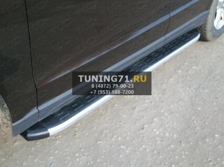 Hyundai Tucson 2015 Пороги алюминиевые с пластиковой накладкой 1720 мм
